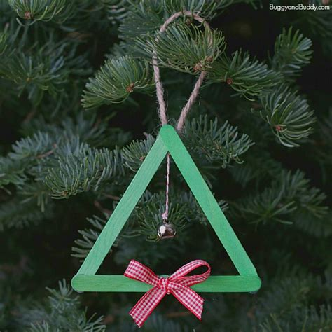 popsicle stick ornament popsicle stick and jingle bell tree ornament