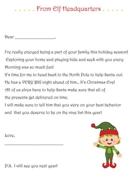 1000 ideas about elf goodbye letter on pinterest on the
