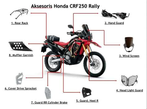 Helm Crf 250 Rally By Aripartzone aksesoris resmi honda crf250 rally honda genuine parts