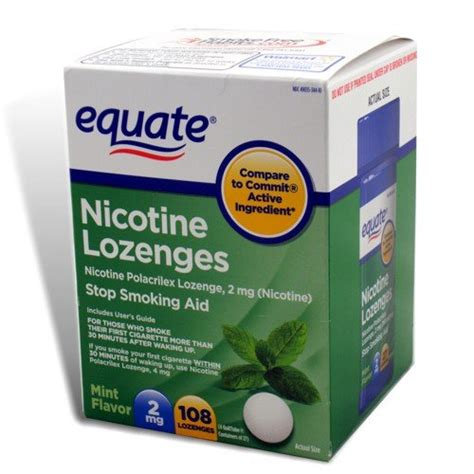 Detox From Nicotine Lozenges by Equate Nicotine Lozenge Stop Aid Mint Flavor 2 Mg