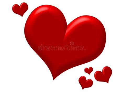 imagenes de corazones infartados corazones rojos hinchados ilustraci 243 n del vector