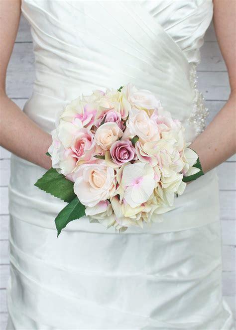Hydrangea Silk Flower Bouquet 1 silk wedding bouquets silk wedding flowers artificial