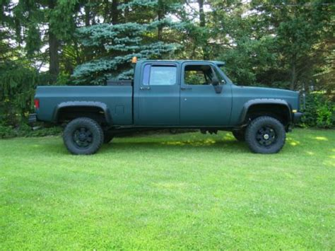 81 gmc truck for sale purchase used 81 k30 crew cab bed chevy gmc m1008