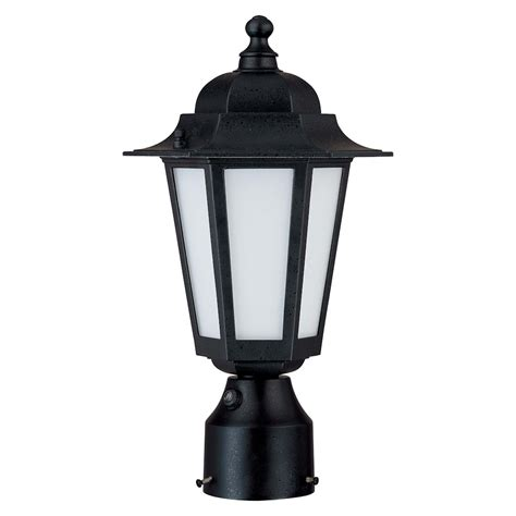 Photocell Light Fixtures Nuvo Lighting 62213 1 Light Twist Lock Base 14 25 Quot Textured Black With Frosted Glass Post