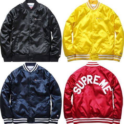 Jaket Sweater Hoodie Supreme X Cahmpion Collage High Premium supreme x chion satin jacket if i were a
