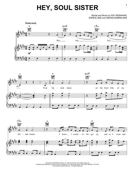 testo hey soul hey soul sheet by piano vocal