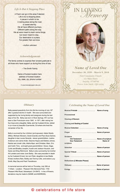 funeral programs templates microsoft word doc 576927 doc549424 free funeral program template