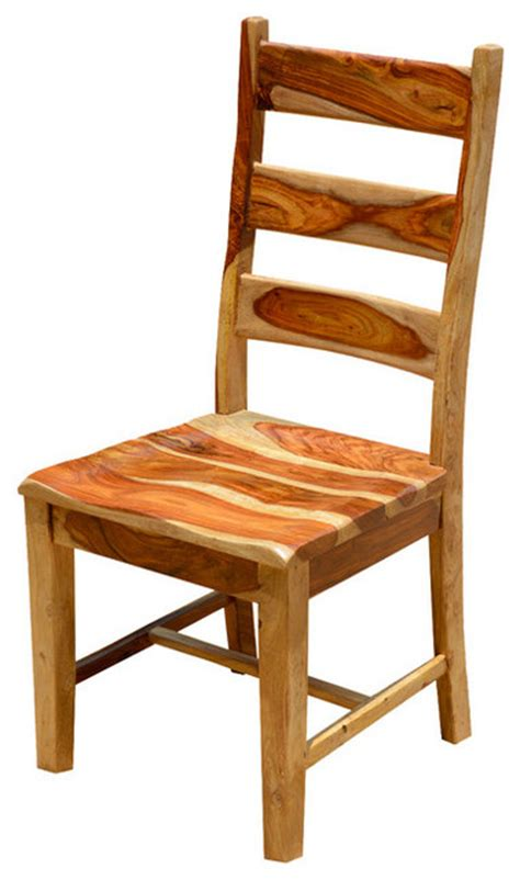 dallas ladder back dining chair solid wood rustic