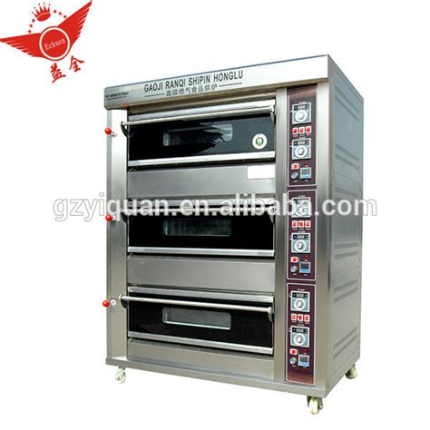 Gas Deck Oven Stainless Hitech 3 Deck 6 Trays Arf 60h all stainless steel 3 deck 6 tray gas oven bread oven from china guangdong all stainless