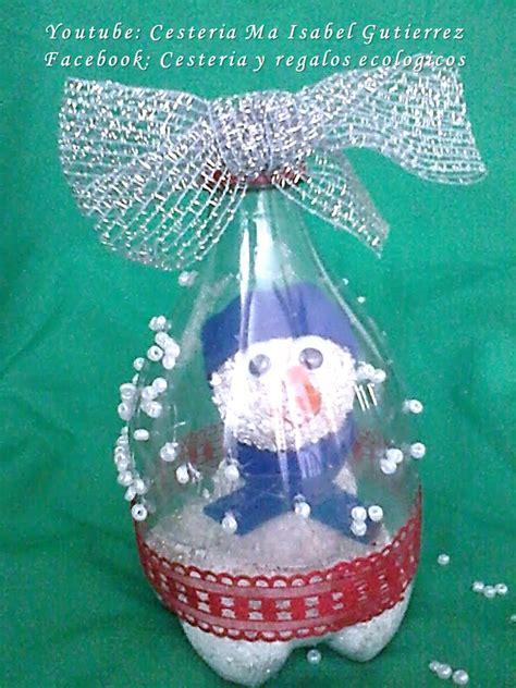 adornos de botella navidad imagenes adornos navide 241 os con botellas de pl 225 stico diy christmas