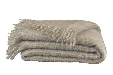 mohair decke mona beige meliert bei bed bath g 252 nstig - Decke Beige