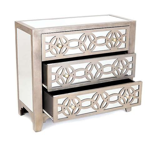 libby silver mirrored dresser libby silver mirrored 3 drawer chest kirklands home
