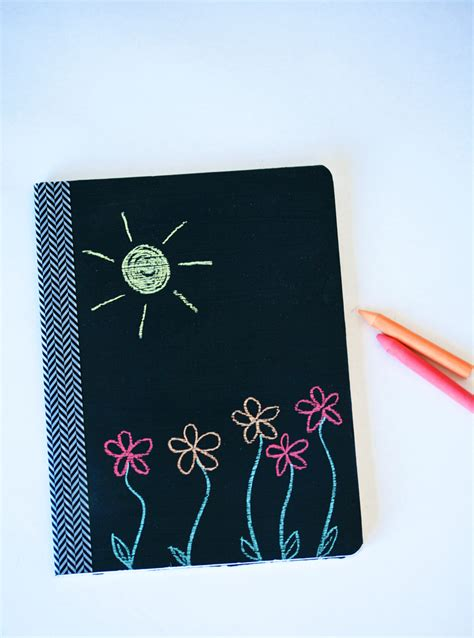 chalkboard paint notebook back to school with neon favor paging supermom