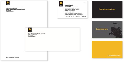 ucf business card template stationery and business cards ucf brand guide