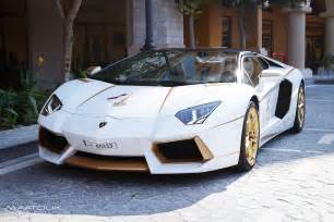 White Gold Lamborghini Meet The One Gold Plated Lamborghini Aventador
