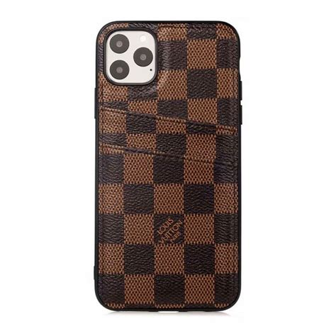 louis vuitton iphone  pro max cases card brown iphone