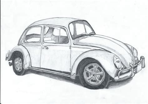 volkswagen bug drawing vw bug drawing by slidergirl on deviantart
