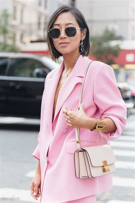 what is pinks style the best pink street style looks at new york fashion week