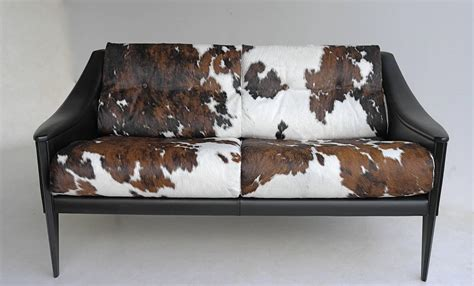 cowhide couch gio ponti quot dezza quot cowhide sofa by poltrona frau at 1stdibs