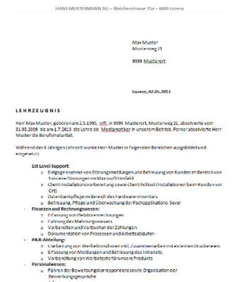 Bewerbungsschreiben Wohnung Muster Schweiz Lehrzeugnis Vorlage Schweiz Word Muster Und Vorlagen Kostenlos