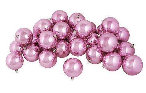 beautiful light pink christmas ornaments