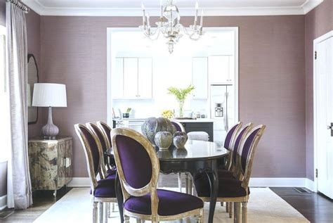 purple dining room purple dining rooms transitional dining room