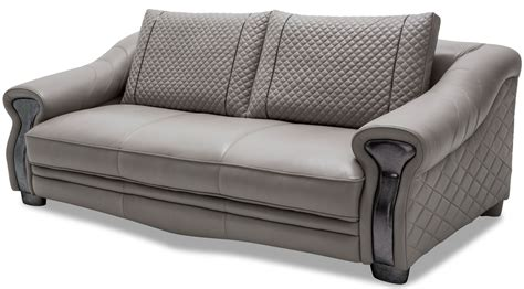 light gray leather standard sofa mb gbrla15 lgr