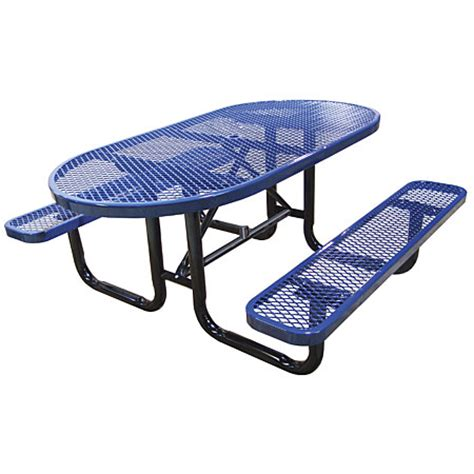outdoor oval metal picnic tables xpb offers lockers