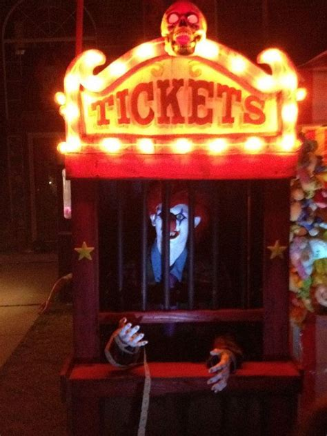 halloween show themes haunted house carnival ticket booth halloween decoration