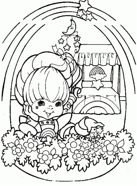 rainbow flower coloring page coloring pages rainbow brite coloring home