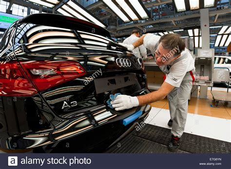 audi production line working on the production line of the audi a3 at the