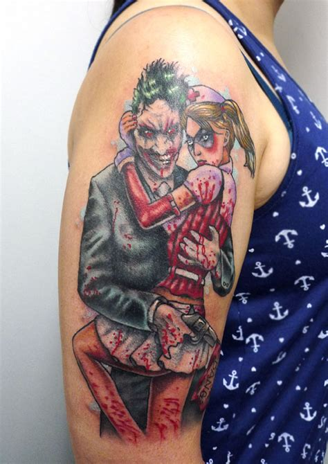harlequin tattoo joker and harley quinn by matt curtis tribal
