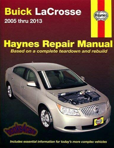 car repair manual download 2008 buick lacrosse parental controls shop manual lacrosse service repair buick book haynes chilton la crosse ebay