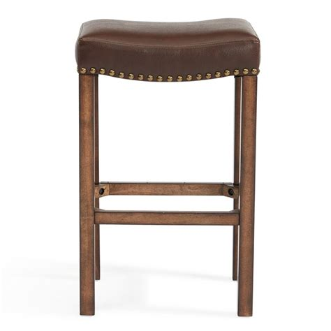 counter height backless bar stools armen living tudor 26 quot counter height backless bar stool