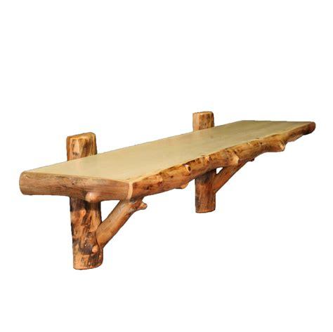 36 Wall Shelf by Aspen Log Furniture 36 Inch Aspen Wall Shelf Black Forest