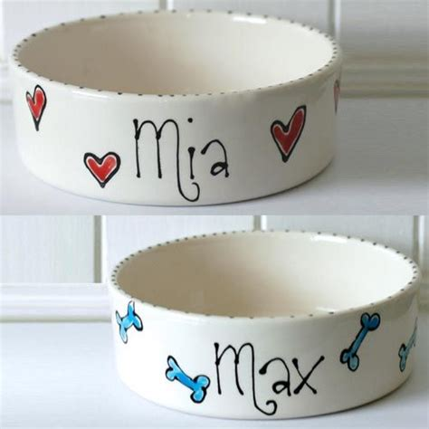 1 Pet Dishes Ceramic - ceramic bowl with name whimsical bowls