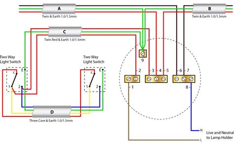 2 way lighting circuit ceiling wiring diagrams