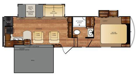 wildcat 5th wheel floor plans wildcat 29rkp 5th wheel floor plan