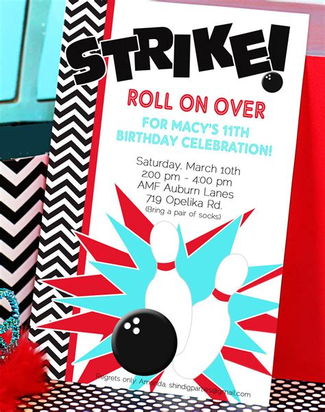 bowling birthday invitations free templates bowling invitations templates ideas bowling