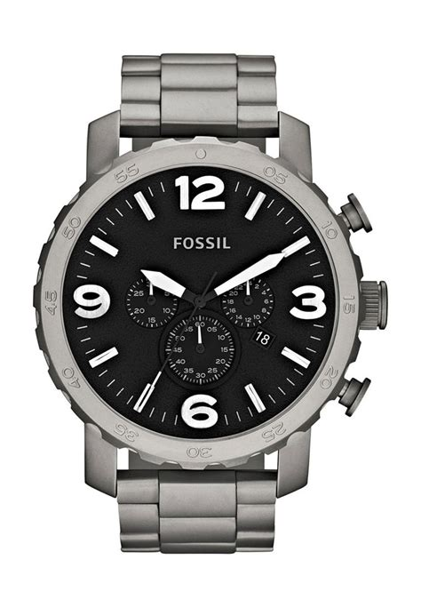 Fossil Nate Black Grey fossil nate collection titanium grey footwear