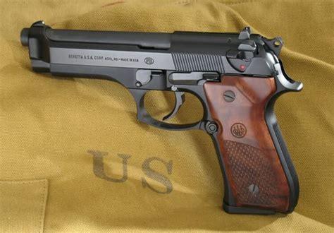 beretta 92fs wood grips beretta 92fs with olive wood factory grips gunshots