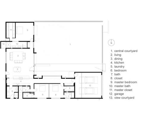 Modern Courtyard House Plans Mexican Style Courtyard House Mexican House Plans With Courtyard