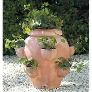 terra cotta fishbowl tascandi strawberry jar planter
