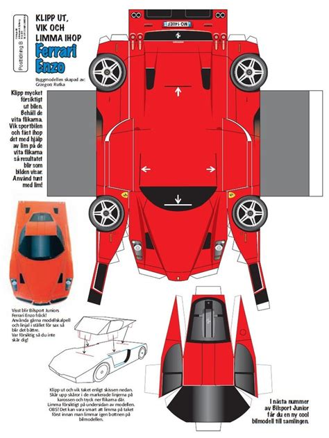 Create Your Own Papercraft - car papercraft template craft papercraft toys