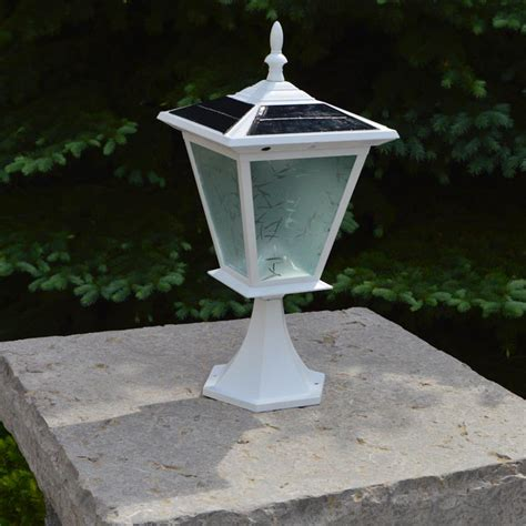 white solar lights pillar column mount solar lights by free light galaxy