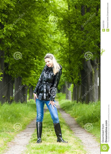 wearing rubber boots wearing rubber boots stock image image of
