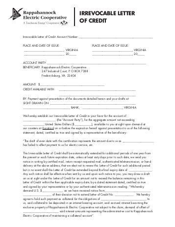 Irrevocable Letter Of Credit irrevocable letter of credit best letter exles