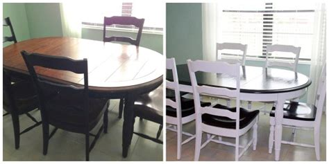 diy refinished kitchen table and chairs