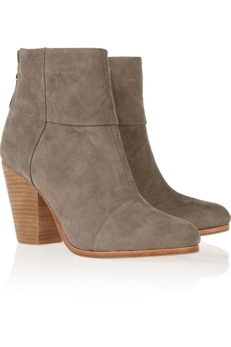rag and bone boots lyst rag bone classic newbury nubuck ankle boots in gray