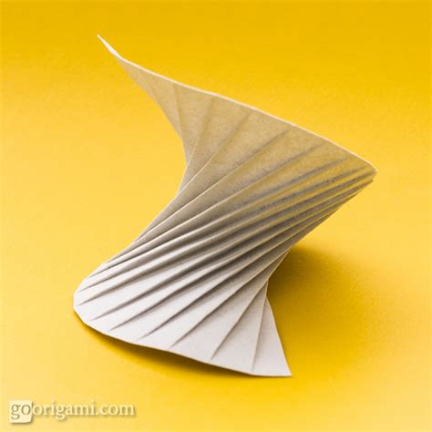 Spiral Origami - origami tessellations corrugations fractals gallery